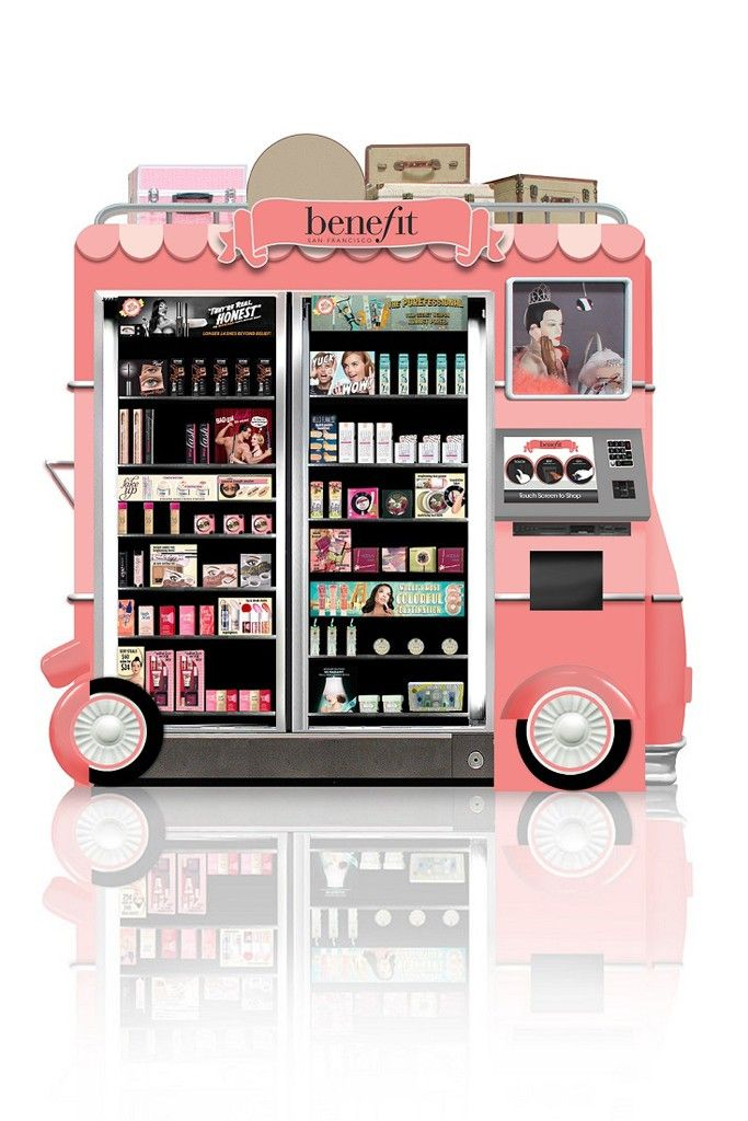 Benefit to Launch Airport Beauty Kiosks | Cosmetic display ...