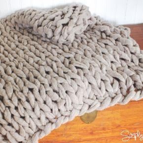 diy maxi laine maxi couverture maxi tapis en laine g ante couture pinterest tricoter. Black Bedroom Furniture Sets. Home Design Ideas