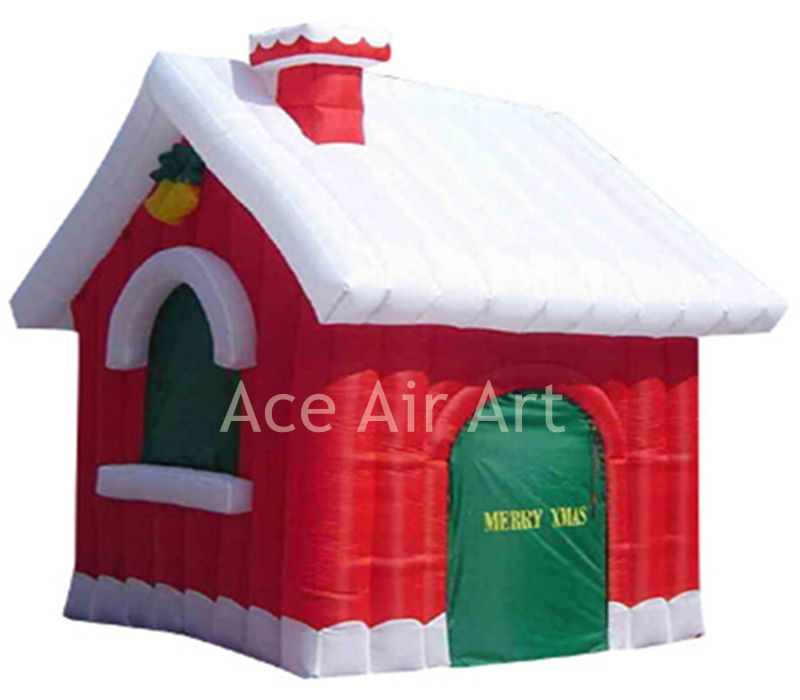 rental outdoor Christmas inflatable snow house for Christmas holiday