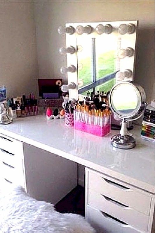 Beautiful Makeup Storage Idea.