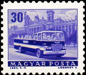 Znaczek: Sightseeing bus (Węgry) (Transport and Telecommunication) Mi:HU 1926A,Sn:HU 1509,Yt:HU 1557