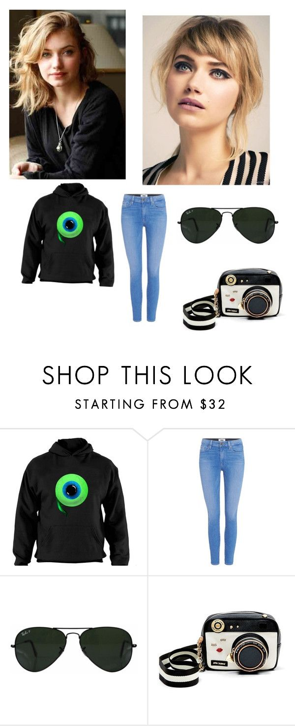 """Kacey summers"" by almost-a-model ❤ liked on Polyvore featuring Paige Denim, Ray-Ban and Betsey Johnson"