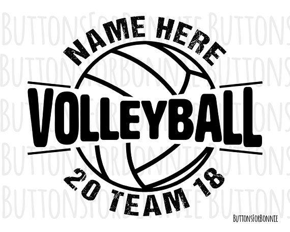 Volleyball Svg Volleyball Vector Volleyball Emblem Volleyball