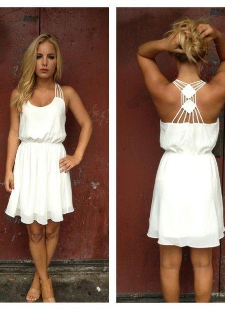 de vestido verano estilo whitedress vestido sencillo blanco vestido rústico tanque blanco zapatos blanco linda de de de ropa de la vestido 6wv6OA7q