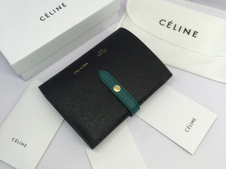 84e95657ccab 【strap0186】 CELINE Strap セリーヌ ストラップ 財布 コピー ミディアム ストラップウォレット 二つ折り財布 8