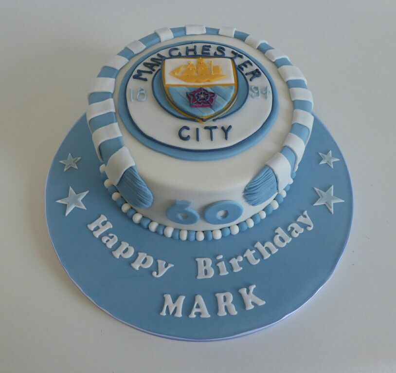 Manchester City Football Club Birthday Cake Soccer Birthday Cakes Cake 60th Birthday Cakes