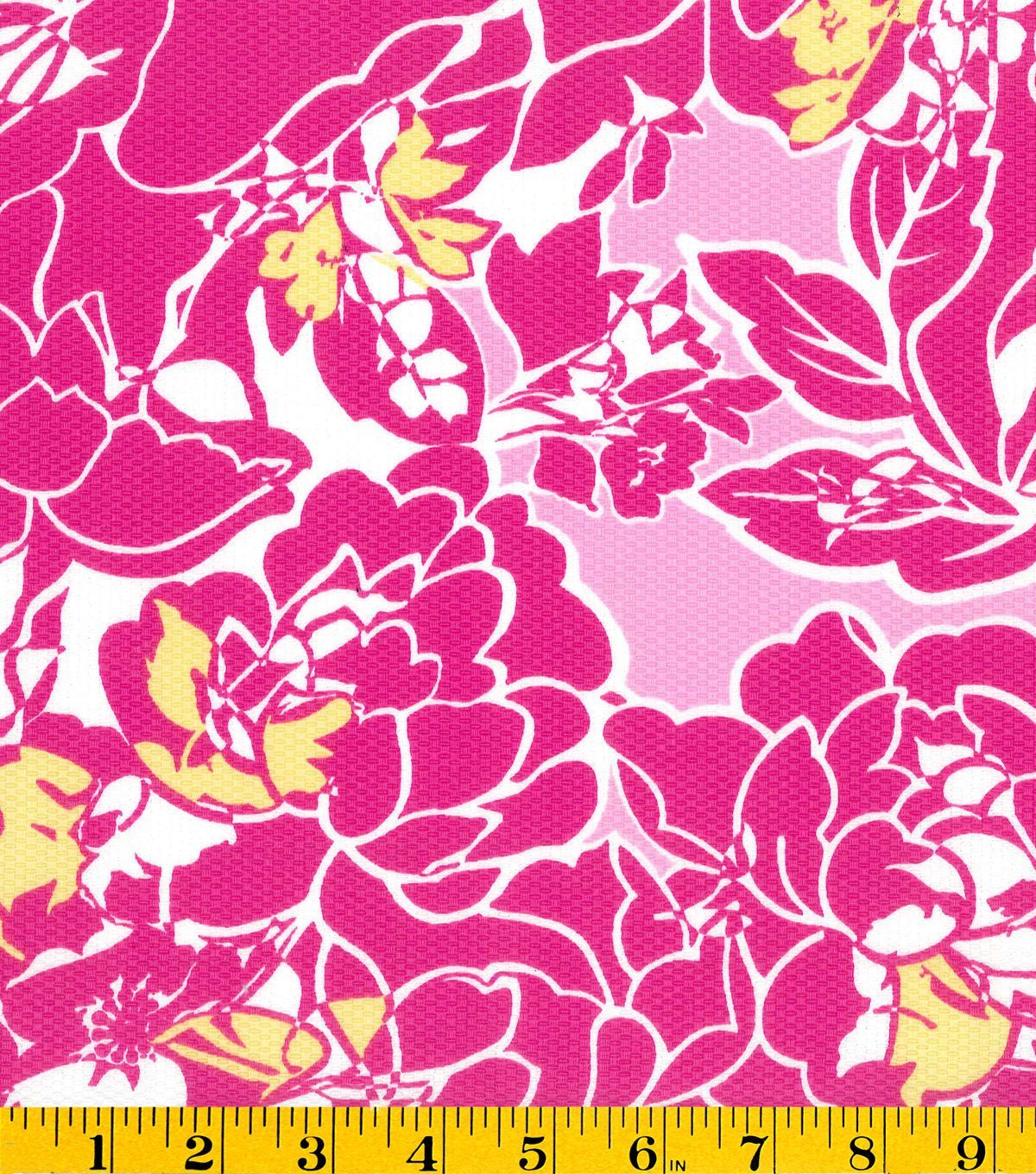 Summerville Pique Fabric-Floral Pink   Fabric Finds with JOANN ...