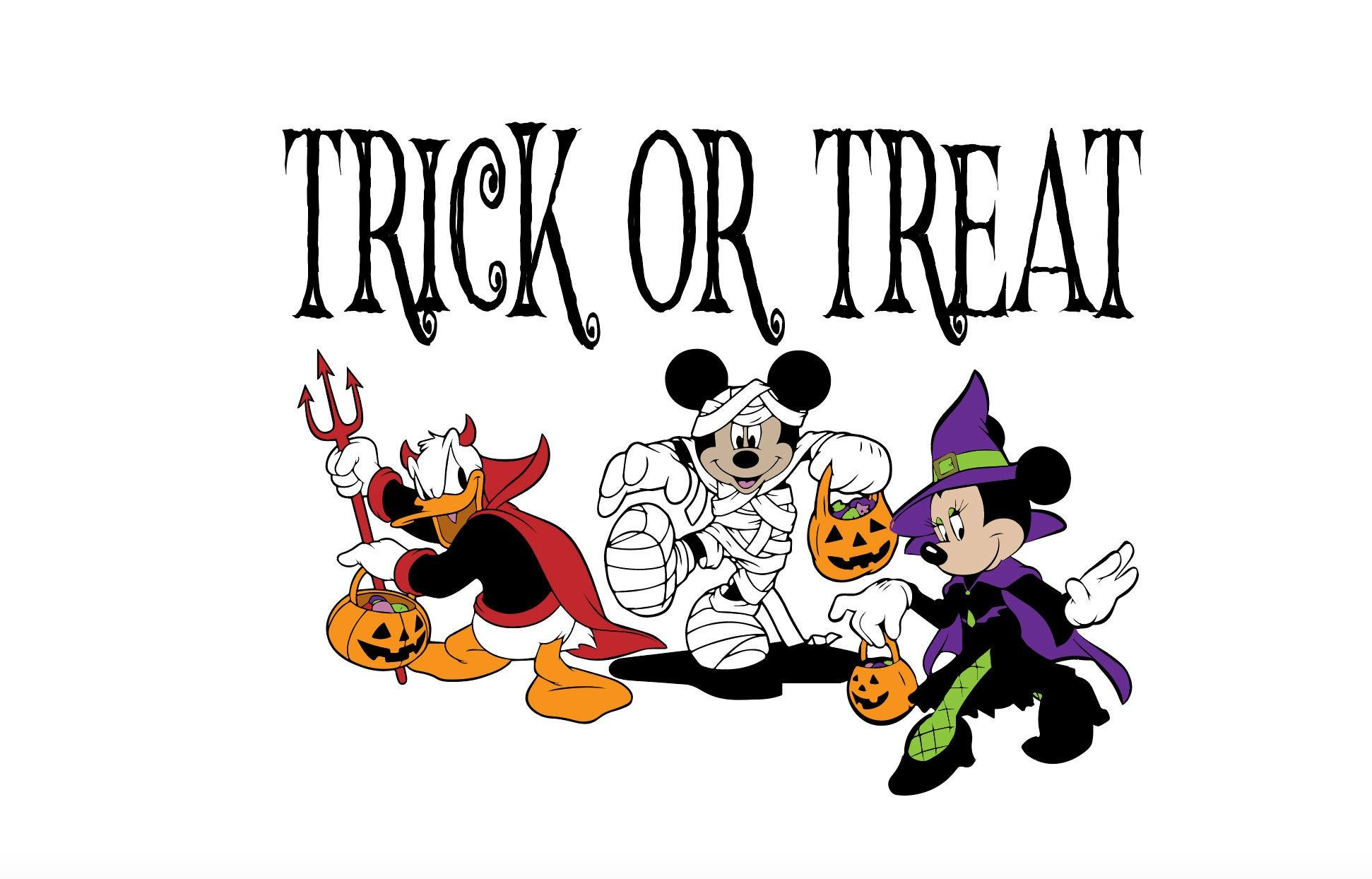 Trick or treat Mickey SVG by Kidznation on Etsy (With