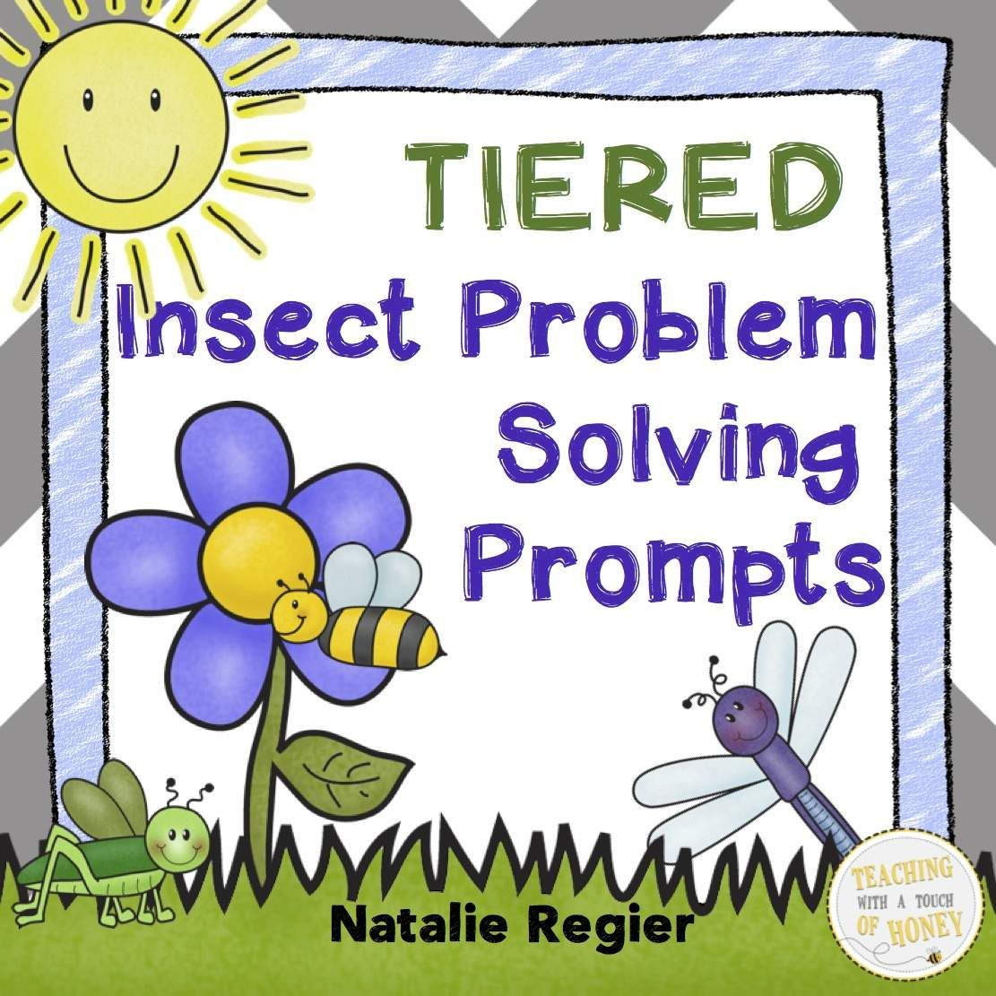 "$ Tiered addition and subtraction problem solving prompts to support diverse student needs.  The ""Insect Math Journal Prompts"" package contains 25 problem solving prompts. Each tiered prompt is visually similar and provided in three different forms for a total of 75 math prompts. Prompt ""A"" involves addition and subtraction to 20. Prompt ""B"" focuses on addition and subtraction to 100 without regrouping and prompt ""C"" involves addition and subtraction to 100 with regrouping."