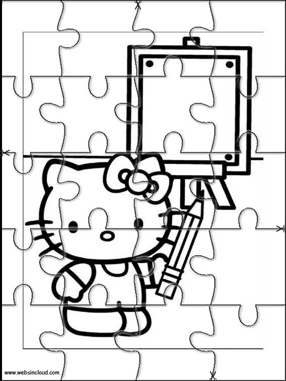 Printable jigsaw puzzles to cut out for kids Hello Kitty 17 Coloring ...