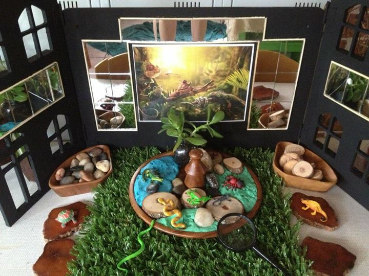 Reflective Interactive Display From Puzzles Family Day Care