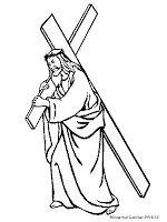 Gambar Yesus Membawa Salib Untuk Diwarnai Coloring Pages Jesus