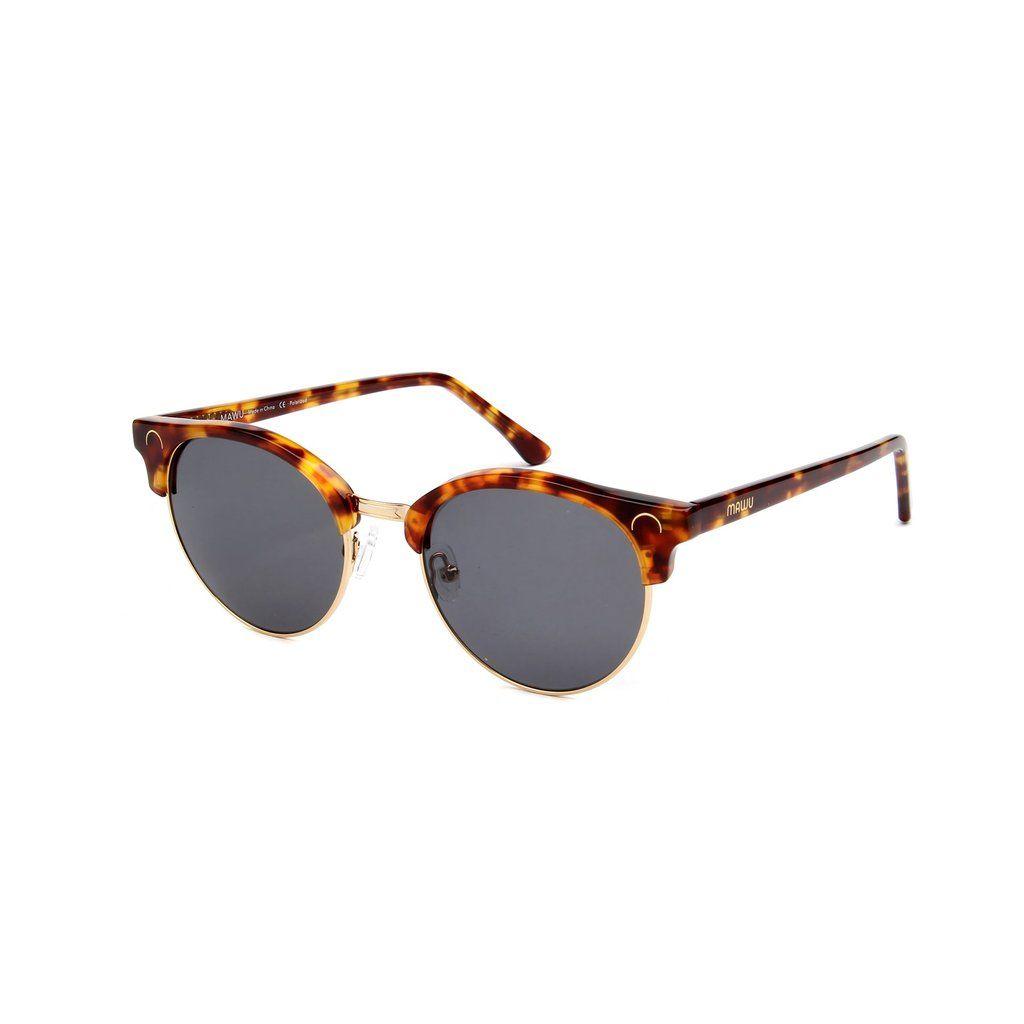 bfe9a5d3b3 MAWU Eyewear Tropez Tortoise - Dark Grey lens