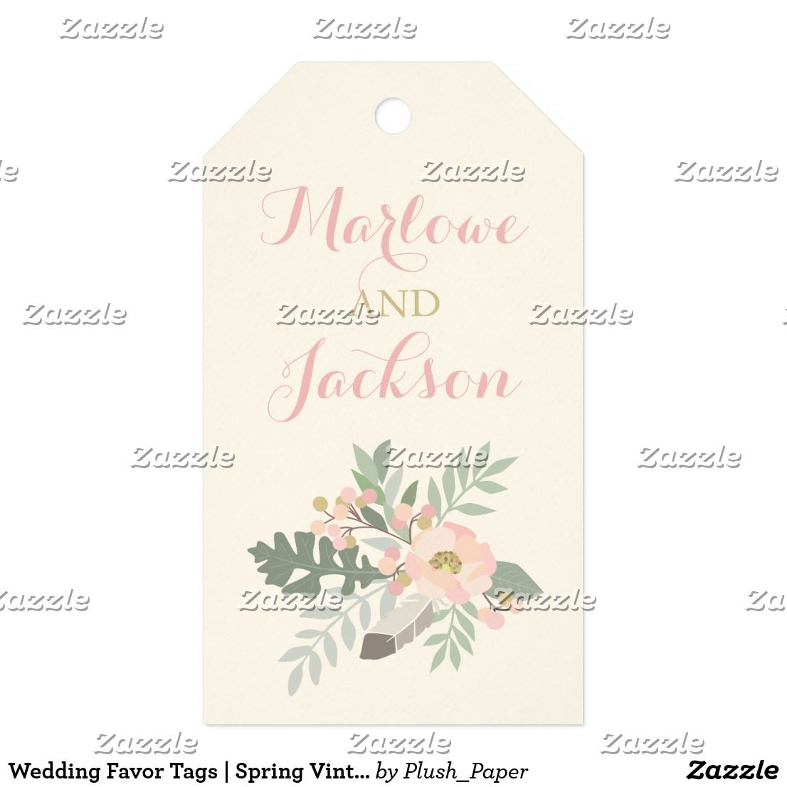 Wedding Favor Tags | Spring Vintage Boho | Wedding favor tags ...
