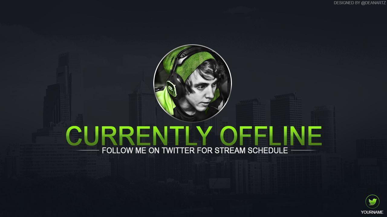 Twitch Offline Banner Template Psd