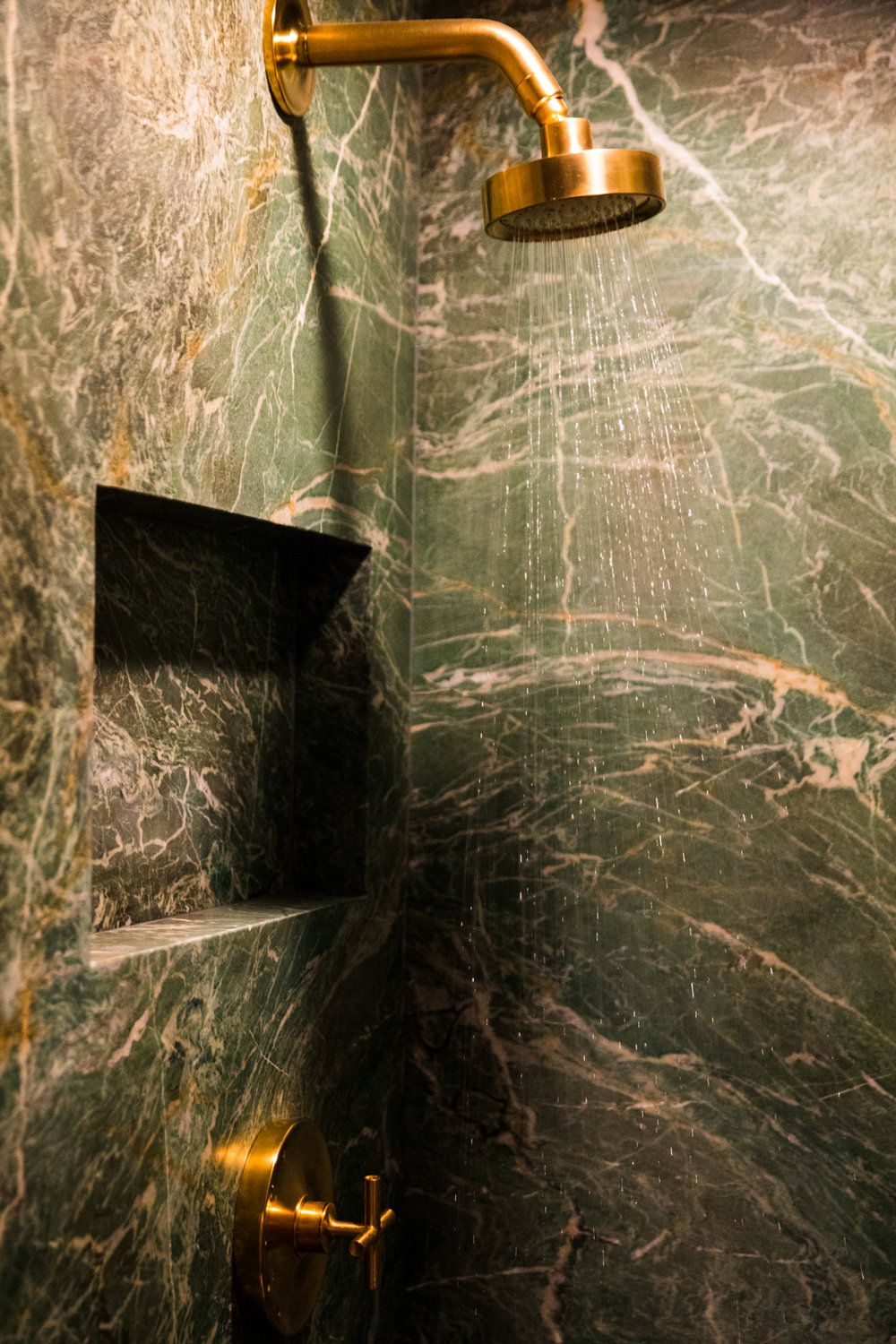 Materials Shower Walls Ceiling And Floor Malachite Marble Honed Project Notes This Beautiful Green Material Comes Elegant Stone Shower Wall Marble Granite