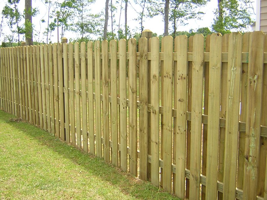 Dog Ear Fence Panels Board On Simple Estate Posts Exposed