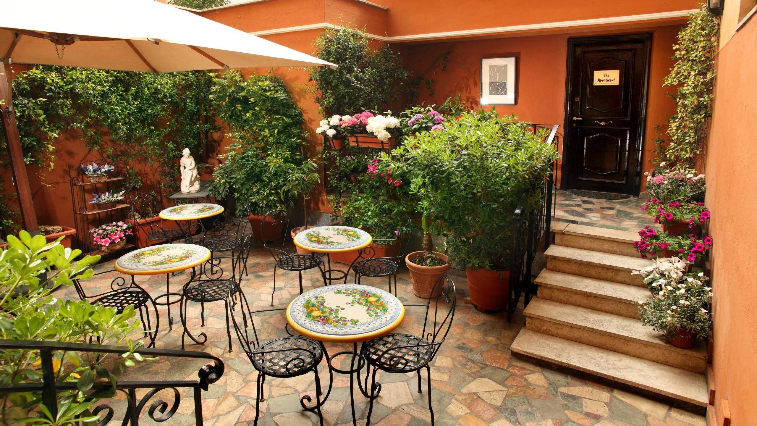 hotelmodiglianiromaappartamentogiardino02 Outdoor