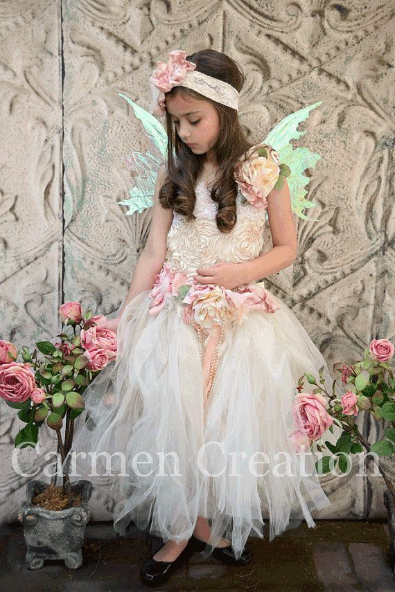 ab04b5c42c Fairy Flower Girl Dres Fairy Dress Fairy Dress by CarmenCreation ...