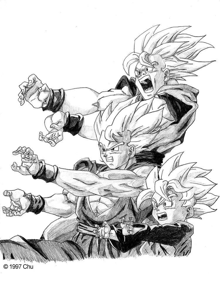 Goku, Gohan, Goten- Family Kamehameha | DBZ Couples, Families and ...