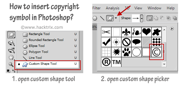 If You Are Looking For A Way To Type Copyright Symbol In Photoshop
