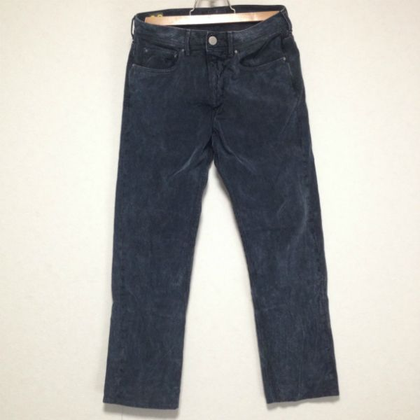 STONE ISLAND WASHED BLACK CORDUROY PANTS Size: 32 Made in RUMANIA