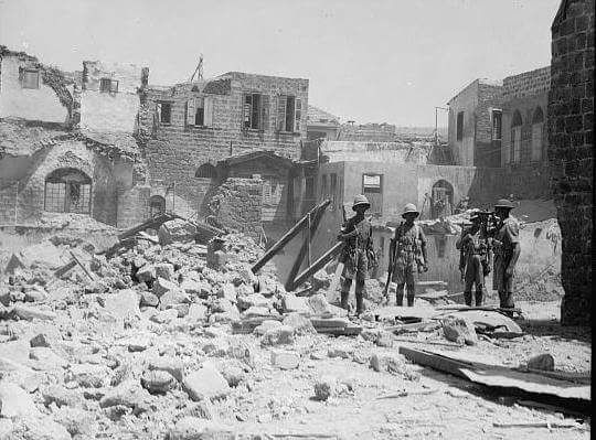 British Troops During The Demolition Of Palestinian Homes In Haifa Britain Historical Facts City