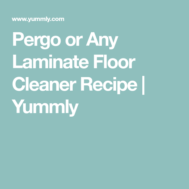 Young Living Laminate Floor Cleaner