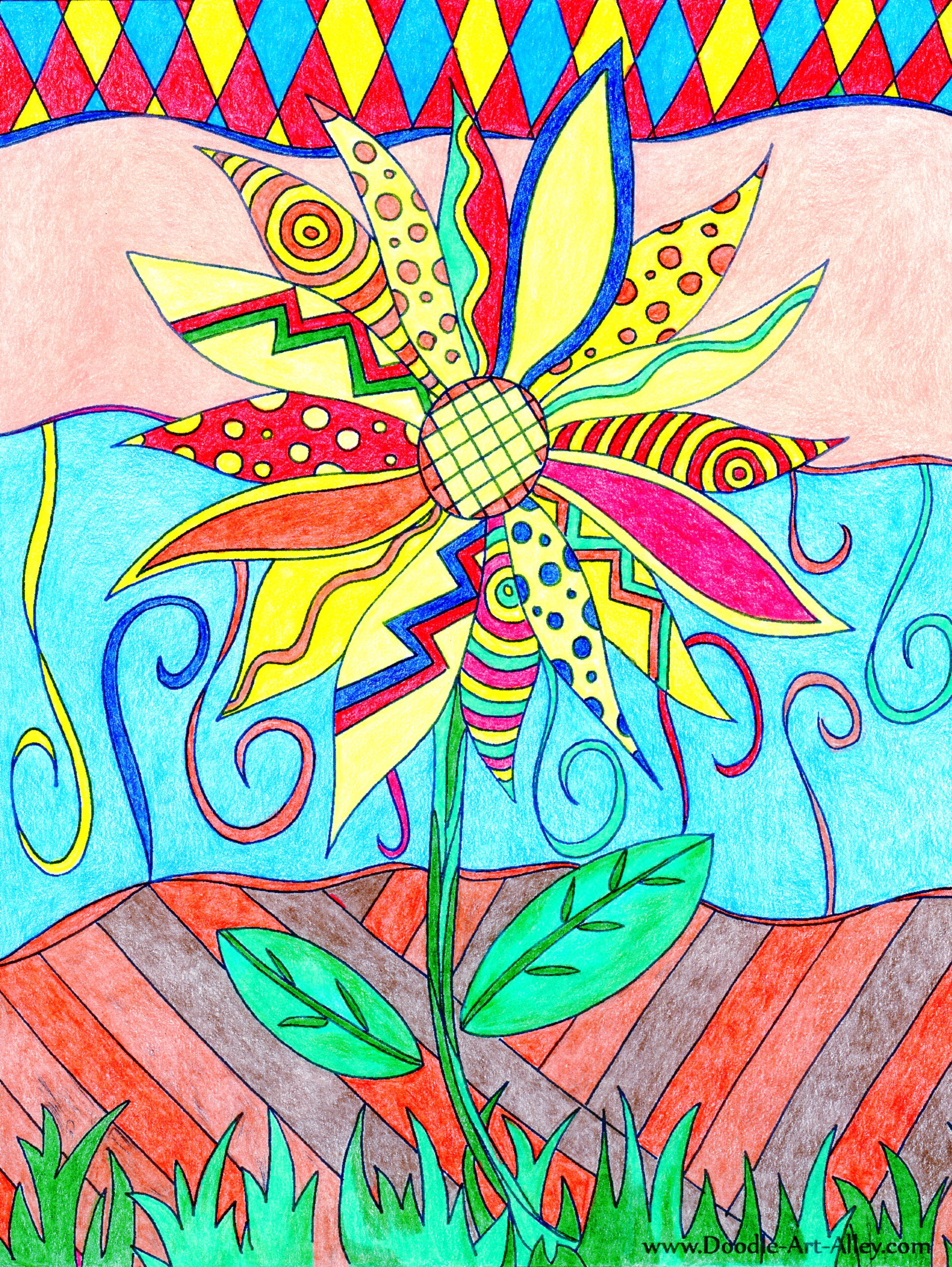 Marion Kelsey (18+ division) | Nature in Bloom Coloring Contest ...