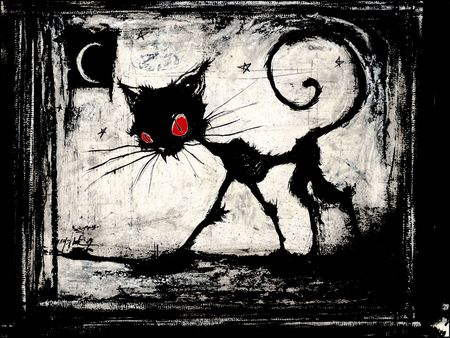 Cat in the night - Graffiti Wallpaper ID 919335 - Desktop Nexus ...