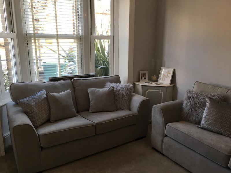 Boston Sofa Tesco Light Grey | Boston sofa, Sofa, Living room