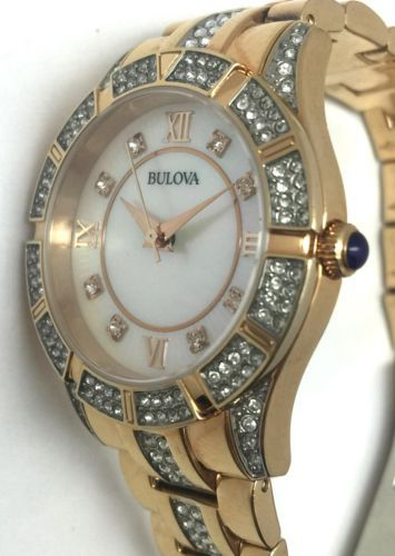 Bulova Womens Rose Gold Pearl Crystal Band White Face Quartz Watch - C4337079 https://t.co/e7nKc1Ahgy https://t.co/7wrTZvf9eQ