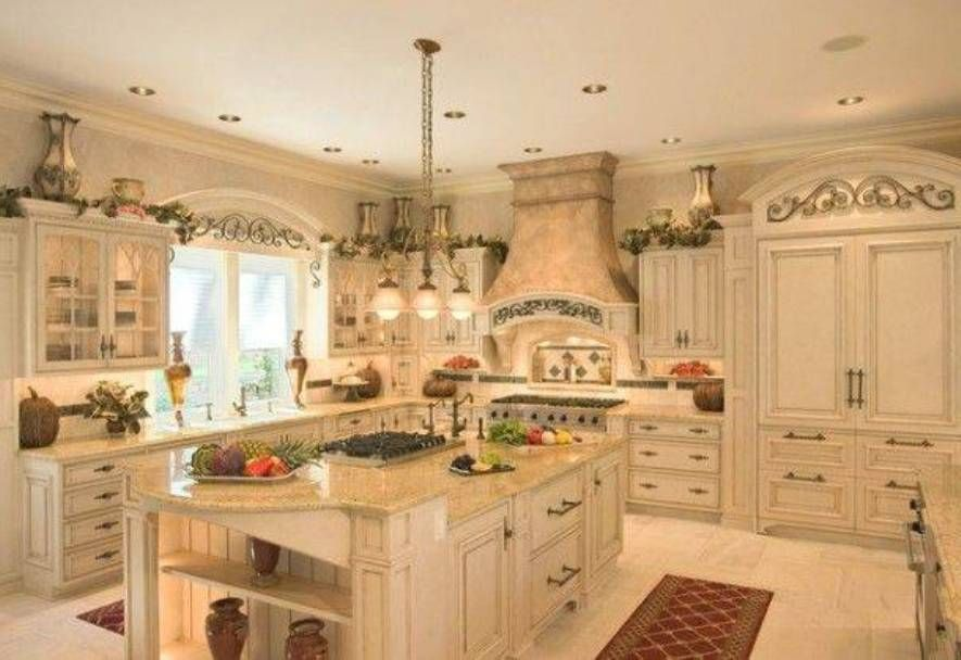 White Cabinets In Kitchen Mediterranean Style : Kitchen Cabinet