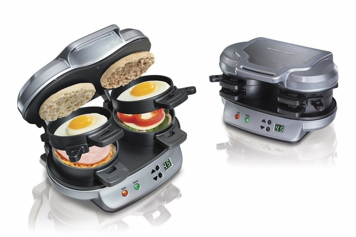 Hamilton Beach Dual Breakfast Sandwich Maker #Breakfast, #SandwichMaker #Kitchen