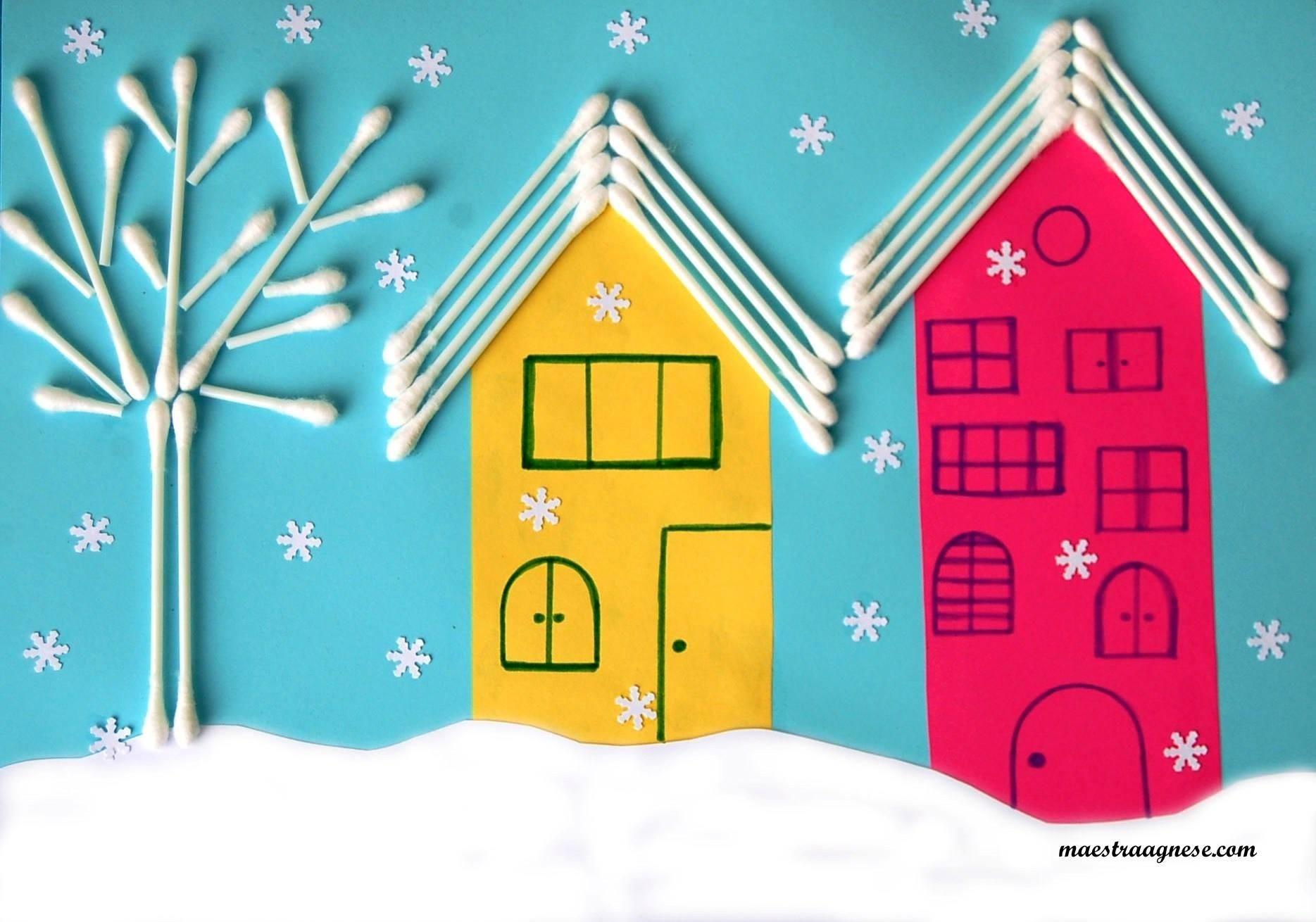 okul ncesi kulak temizleme ubuklar le k sanat etkinlikleri basteln winter. Black Bedroom Furniture Sets. Home Design Ideas