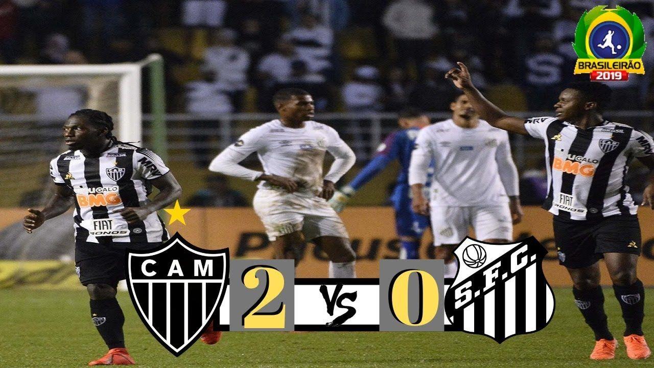 Atlético MG 2 x 0 Santos 27ª rodada Melhores Momentos