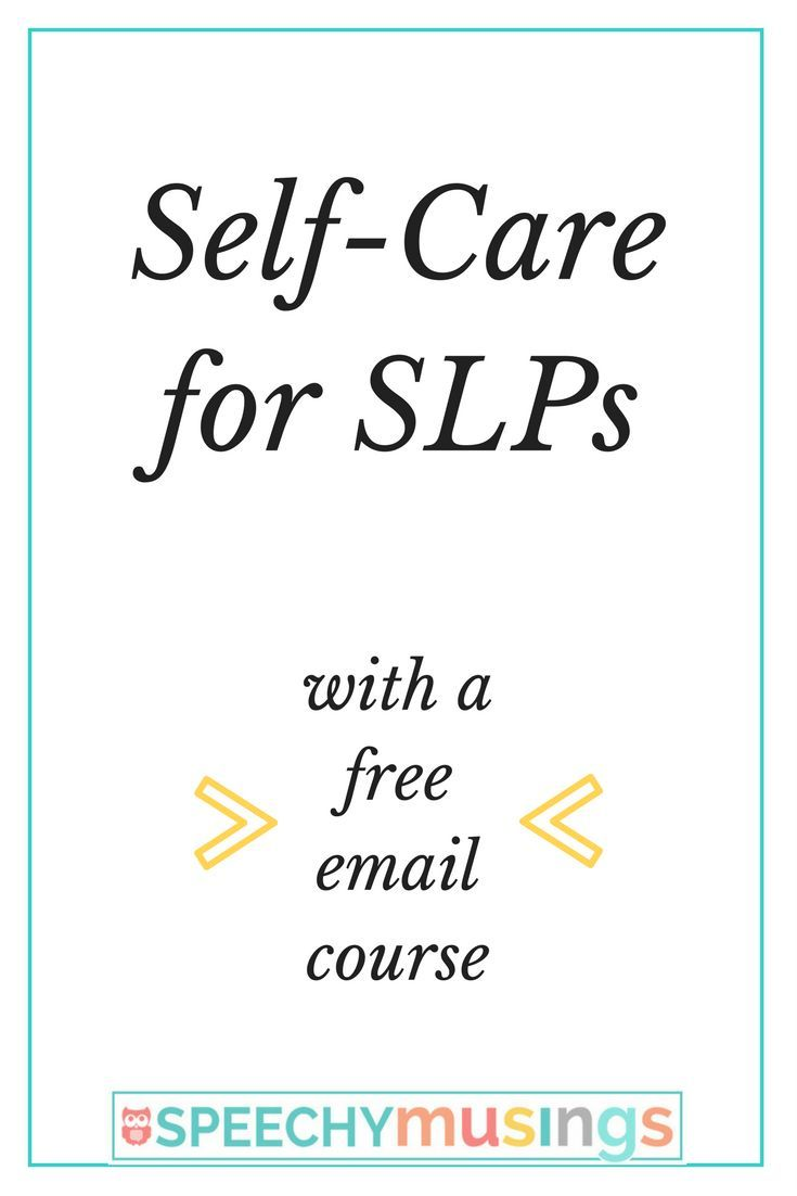 Tips from one SLP about how to stay sane and give yourself some self-care to get through the school year. From Speechy Musings.