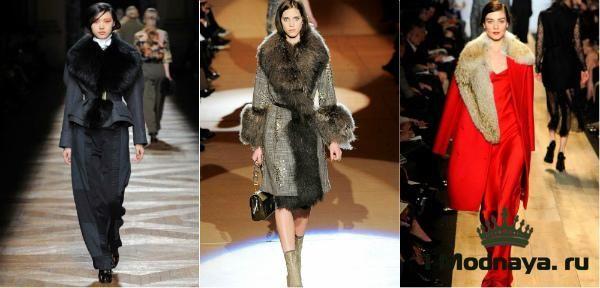 Женское зимнее драповое пальто с мехом (30 Фото ...
