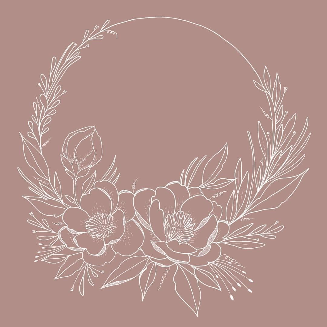"""Photo of Delia Rose Illustration on Instagram: """"🌸 DETAIL OR CLOSE-UP – Day 5 of #marchmeetthemaker – I drew this floral wreath last night without even asking today, imagination …"""""""