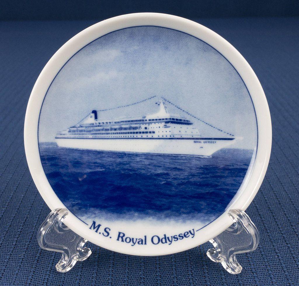 Royal Cruise Line Royal Odyssey Cruise Ship Souvenir Small Plate - Royal odyssey cruise ship