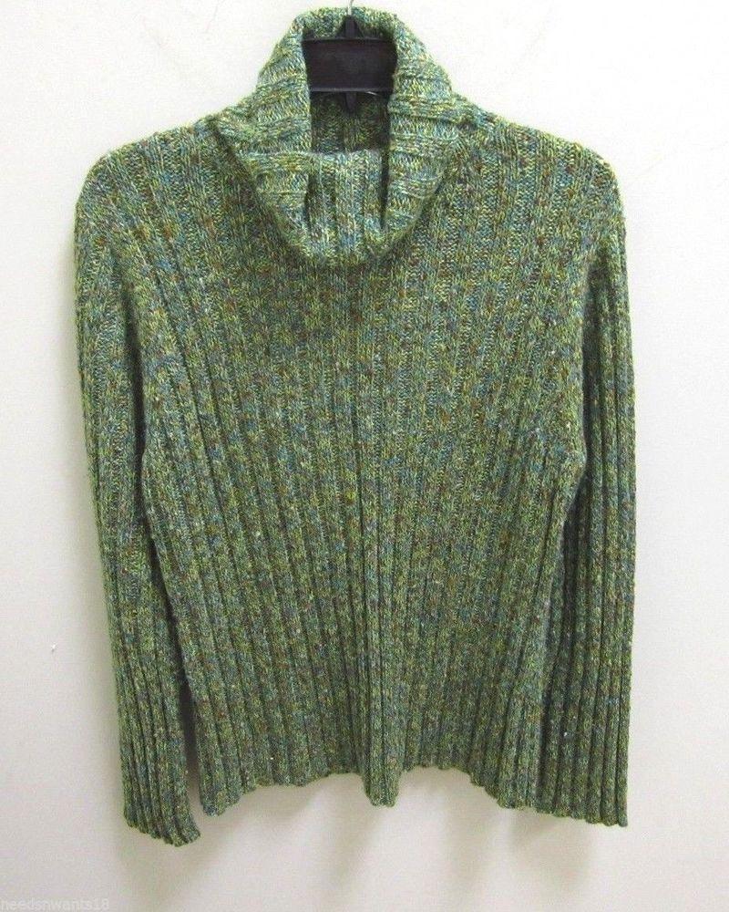 Coldwater Creek Green Long Sleeve Turtle Neck Knit Sweater Womens Size Large  #ColdwaterCreek #TurtleNeckSweater