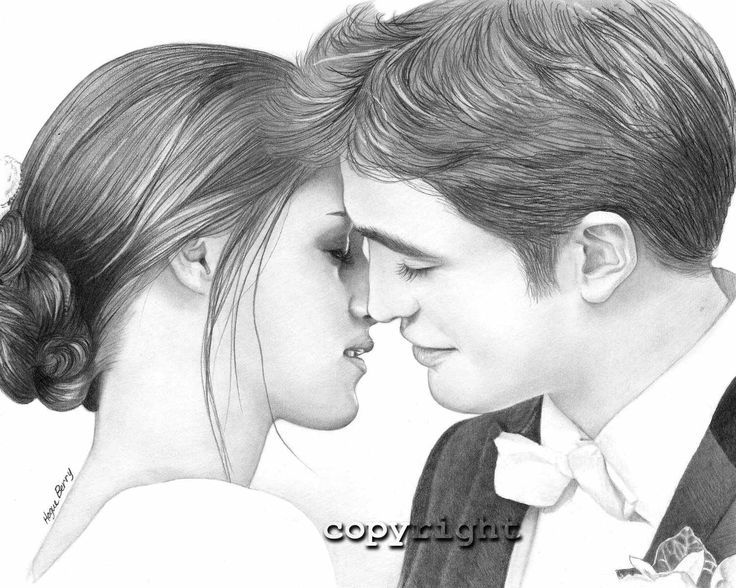 dessin portrait | This drawing.. | EDWARD & BELLA | Pinterest