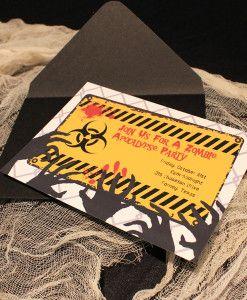 Halloween Zombie Apocalypse Invitation Template