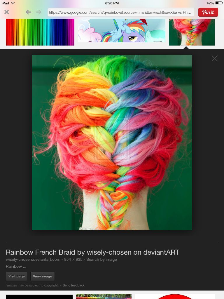 Rainbow hair so cool