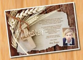 ausgefallene fotokarten: einladung konfirmation kommunion