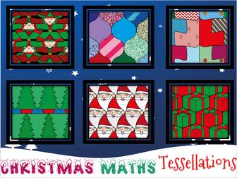 Christmas Maths Festive Tessellations Christmas Teaching Resources Christmas Math Math