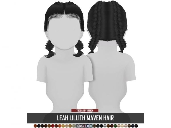 The Sims 4 LEAH LILLITH MAVEN HAIR TODDLER VERSION #toddlers