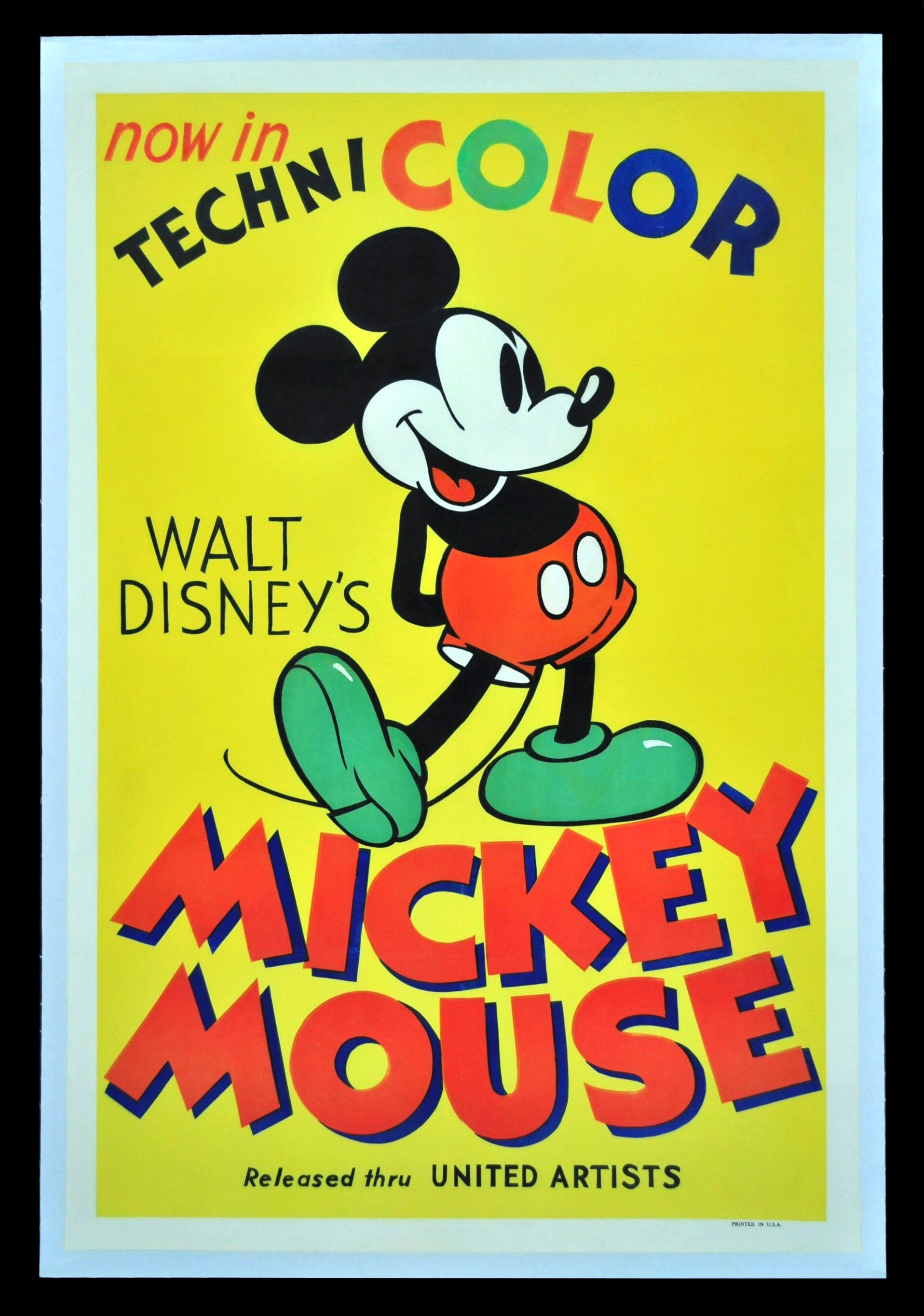 Mickey Mouse #Vintage #poster #Ad Mikke musefilmer  Mickey mouse movies