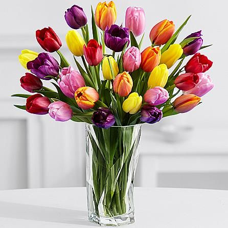 Nothing Beats A Big Bunch Of Tulips Fresh From The Fields These 30 Tulips Deliver An Undeniably Bri Order Flowers Online Tulips Flowers Online Flower Delivery