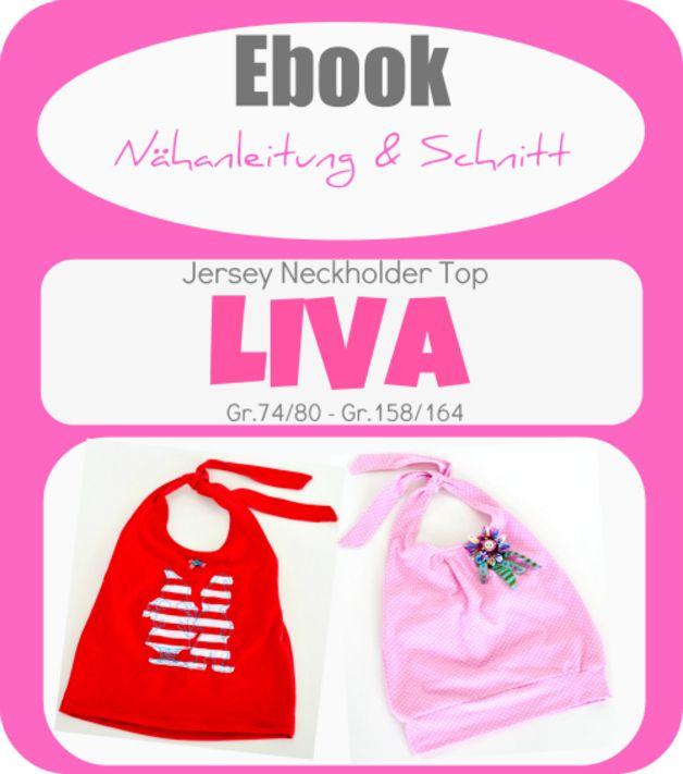 "Ebook  Neckholder Top ""LIVA"""